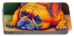 Colorful French Bulldog Portable Battery Charger