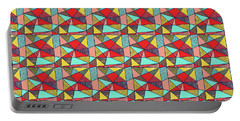 Colorful Geometric Abstract Pattern Portable Battery Charger