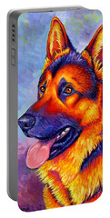 Colorful German Shepherd Dog Portable Battery Charger