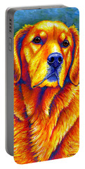 Colorful Golden Retriever Dog Portable Battery Charger