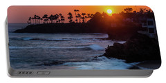 Colorful Laguna Beach Sunset Portable Battery Charger