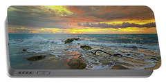Colorful Morning Sky And Sea Portable Battery Charger