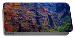 Colorful Mountains Of Kauai Portable Battery Charger