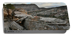 Colorful Overhang In Colorado National Monument Portable Battery Charger