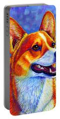 Colorful Pembroke Welsh Corgi Dog Portable Battery Charger