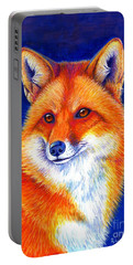 Colorful Red Fox Portable Battery Charger