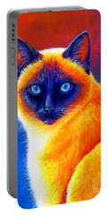 Jewel Of The Orient - Colorful Siamese Cat Portable Battery Charger
