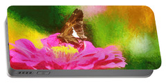 Colorful Silver Spotted Skipper Butterfly Portable Battery Charger