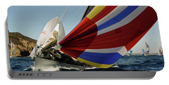 Colorful Spinnaker Run Portable Battery Charger