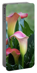 Colorful Spring Flowers Portable Battery Charger