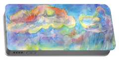 Portable Battery Charger featuring the painting Colorful Summer Landscape by Dobrotsvet Art
