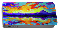 Colorful Sunset At Mcintosh Lake, Colorado Mountain Range Portable Battery Charger