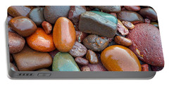 Colorful Wet Stones Portable Battery Charger