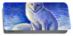 Peaceful Winter Arctic Fox Portable Battery Charger