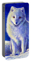 Colorful Winter Arctic Fox Portable Battery Charger
