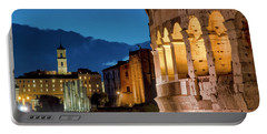Portable Battery Charger featuring the photograph Colosseum And The Campidoglio by Fabrizio Troiani