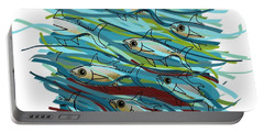 Coloured Water Fish - Digital Change 2 Portable Battery Charger