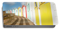 Colourful Bude Beach Huts Portable Battery Charger