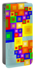 Colourful Cubism  Portable Battery Charger