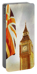 Portable Battery Charger featuring the digital art Colours Of Britain by Edmund Nagele