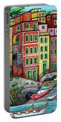 Colours Of Riomaggiore Cinque Terre Portable Battery Charger