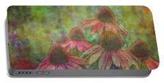 Coneflowers Among The Lavender 1667 Idp_2 Portable Battery Charger