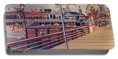 Coney Island Boardwalk Pillow Mural #1 Portable Battery Charger