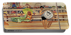 Coney Island Boardwalk Pillow Mural #4 Portable Battery Charger