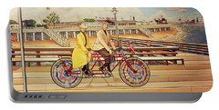 Coney Island Boardwalk Pillow Mural #5 Portable Battery Charger
