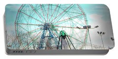 Coney Island Wonder Wheel Ny Portable Battery Charger
