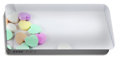Conversation Hearts On A Notecard Portable Battery Charger