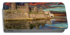 Conwy Castle Sunset Portable Battery Charger