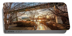Coolidge Park Path At Sunset Portable Battery Charger