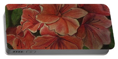 Coral Floral Hibiscus Portable Battery Charger