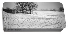 Portable Battery Charger featuring the photograph Corn Snow by Kendall McKernon