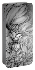 Portable Battery Charger featuring the drawing Cornucopia by Rosanne Licciardi