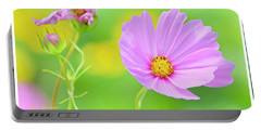 Cosmos Flower In Full Bloom, Bud Portable Battery Charger