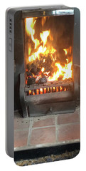 Cosy Winter Fire Portable Battery Charger