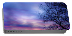 Cotton Candy Sunset In October Portable Battery Charger