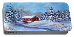 Covered Bridge Sketch Portable Battery Charger