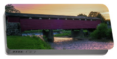 Covered Bridge Sunset Portable Battery Charger