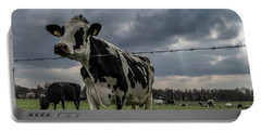 Portable Battery Charger featuring the photograph Cows Landscape. by Anjo Ten Kate