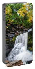 Portable Battery Charger featuring the photograph Cowshed Falls At Watkins Glen State Park - Finger Lakes, New York by Lynn Bauer