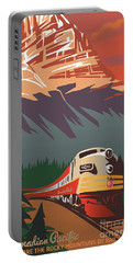 Portable Battery Charger featuring the digital art Cp Travel By Train by Sassan Filsoof