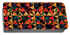 Crazy Psychedelic Art In Chaotic Visual Shapes - Efg214 Portable Battery Charger