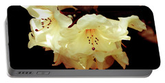 Creamy Rhododendron Portable Battery Charger