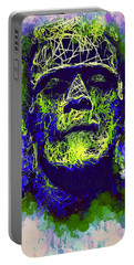 Frankenstein Watercolor Portable Battery Charger