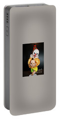 Creepy Clown Portable Battery Charger