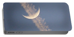 Gemini Crescent In Contrail Portable Battery Charger