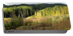 Portable Battery Charger featuring the photograph Crested Butte Colorado Fall Colors Panorama - 2 by OLena Art Brand